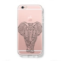 Tribal Elephant iPhone 6 Case, iPhone 6s Plus Case, Galaxy S6 Edge Case C042