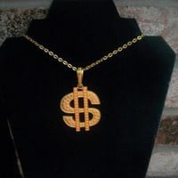 eBlueJay: Dollar Sign Money Necklace Costume Jewelry Bling