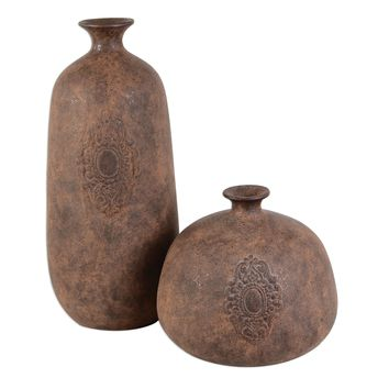 Frederico Rustic Vases Set/2 by Uttermost