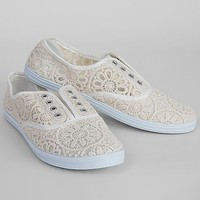 Women's Tennis Shoe in Cream by Daytrip.