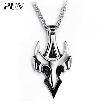 PUN punk personalized vintage gothic anchor pendant necklace titanium steel chain necklace men mens chains male chocker choker