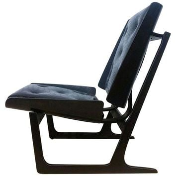 Pre-owned Bentwood & Leather Danish Lounge Chair
