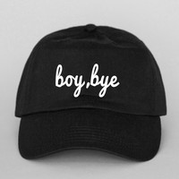 boy, bye formation Strap Back Hat