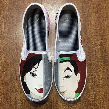 Mulan Hand Painted Canvas Shoes (Generic Brand or Authentic Vans)