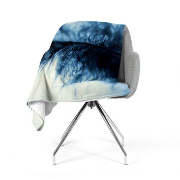 "Ingrid Beddoes ""Fall in Blue"" Fleece Throw Blanket"