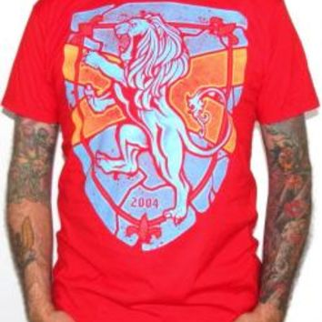 Rampant Lion T-Shirt - Red Full Color