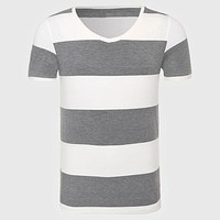 T-Shirt For Men Striped T Shirt Men