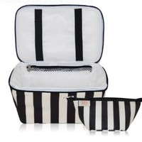 xo(eco) Beauty Pak, Black/Cream Tuxedo Stripe