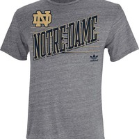 Adidas Notre Dame Fighting Irish Mens Short Sleeve Fashion T-Shirt - Grey