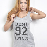 Demi Lovato Shirt Tank Top Tshirt Hipster Tumblr T Shirt for Teen Clothes Teenage Girls Gifts Women T Shirt Size S M L