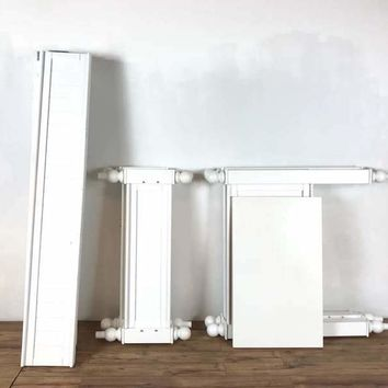 Pottery Barn White Wood Twin Size Bed Frame