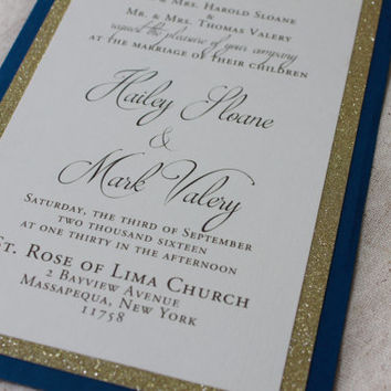 Tiffany blue and yellow wedding invitations