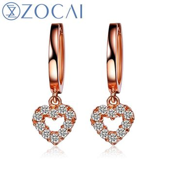 18KT Rose Gold Butterfly Earrings 0.27 ct Natural Diamonds