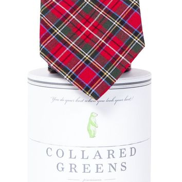 Prince of Whales Tie in Red by Collared Greens
