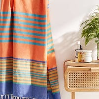 Bondi Peach Striped Beach Towel - Urban Outfitters