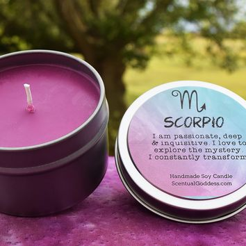 SCORPIO Candle Oct 23 - Nov 21, The Scorpion Zodiac Symbol