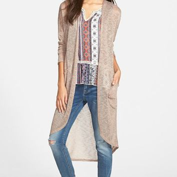 Junior Women's Painted Threads Shadow Stripe Duster,