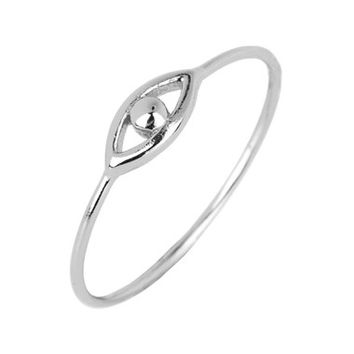 Women's Argento Vivo Open Evil Eye Ring