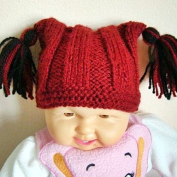 Baby Boys/Girls Knit Chunky Hat Baby Beanie Baby Hat Baby Shower Gift Baby Cat Hat Christmas Gift Ideas 0-18 months Made to Order