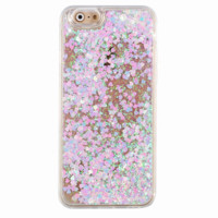 Holographic Hearts Glitter iPhone Case