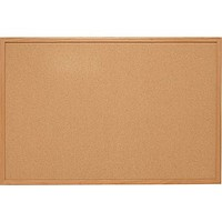 Quartet Basics Cork Board w/ Oak Frame | Staples®