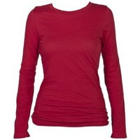 Boxercraft Red Long Sleeve T-Shirt 100% Cotton Lightweight and Comfy