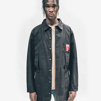 Elongated Cold War Work Jacket in Black