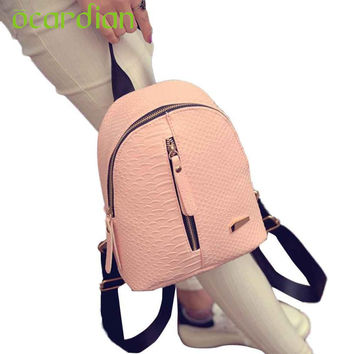 Ocardian Elegance New Hot Women Leather Backpacks Schoolbags Travel Shoulder Bag Mochila 17Mar03 Dropshipping