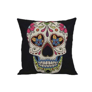 Home Sofa Decoration Vintage Skull Pillowcover Skull Cushion