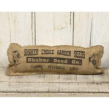 """Shaker Seed Sack 17"""" L Pillow"""