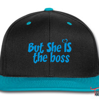 he is the man but she is the boss right d Snapback