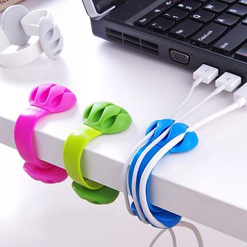 Silica Headphone Headset Wire Wrap Cord Winder Organizers Desktop High Quality Plastic Holder Cable Collector Dropshipping