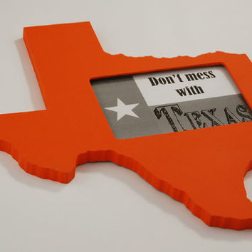 Texas state shaped picture frame 4x6 by @PineconeHome