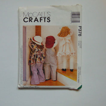 McCall's Craft P378 Time Out Dolls with Clothes