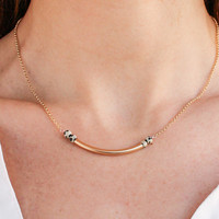 Dalmation Curve Necklace - Christine Elizabeth Jewelry