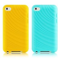 Belkin F8W012ebC02-2 Essential 023 Case for Apple iPod Touch 4G - 2 Pack - Golden Gardens/Fountain Blue