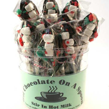 Peppermint Hot Chocolate on a Spoon - Nancy's Candy