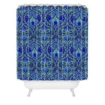 Aimee St Hill Ogee Blue Shower Curtain