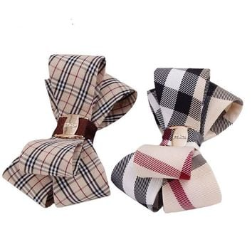 Fashion Metal Plaid Cloth Hair Clips Barrette Hairpin Accessories Women Girls Hair Clip Pin Clamp Hairclip Hairgrip Ornaments