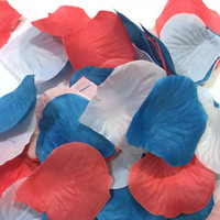 300pc Mixed Rose Petals - Off White, Coral, Turquoise
