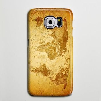 World Map Continent iPhone 6 Galaxy s6 Edge Case Galaxy s6 Case Samsung Galaxy Note 5 Case s6-086