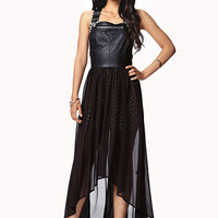 FOREVER 21 Overall High-Low Dress Black