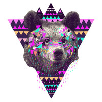 Piñata BEAR  Art Print by Kris Tate | Society6