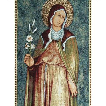Saint Clare Tapestry Wall Hanging