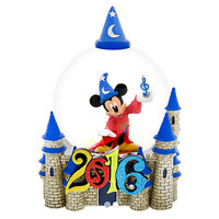 disney parks 2016 mickey mouse fantasia sorcerer logo snow globe new