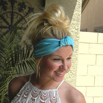 Turban Headband, Turband, Women's Jersey Hair Band, Knot Hair Band, Boho, Turban Knot Headband for Women, Head Wrap Several Colors