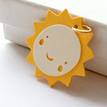 Happy Sun- Recycled Paper Charm