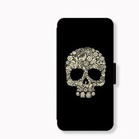 Skull Card Slot Leather Case for Iphone 6 Iphone6 Plus Iphone 5c Case Iphone 5s Case Wallet Case for Samsung Calaxy S5 S4 Case Note3 Note4 Case Cell Phone Holster Design Picture Leather Phone Holster Pouch Phone Covers (Case For iPhone 6)