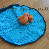 Goldfish Lovey - Fish Security Blanket - Little Fishie - Fishbowl Amigurumi - Fish Stuffed Animal