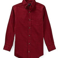 Class Club 8-20 Long-Sleeve Plaid Sportshirt - Red